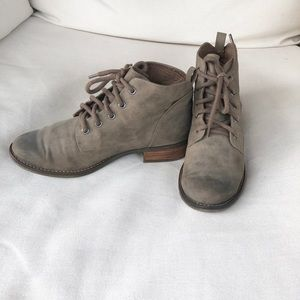 Not Rated Shoes - Sage Combat Ankle Boots